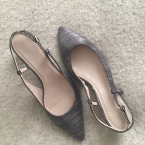 Cole Haan strapping kitten heel